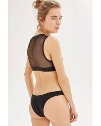 TOPSHOP - Black Crop Bikini Top By - Lyst