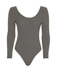 TOPSHOP   Multicolor Stripe Low Bow Back Body   Lyst