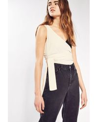 TOPSHOP - Multicolor Colour Block Wrap Body - Lyst