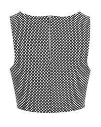 TOPSHOP - Gray Spot Cut-out Crop Top - Lyst