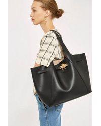 TOPSHOP Black Keely Tote Bag