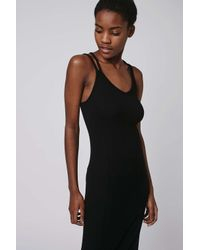 TOPSHOP - Black Strappy Maxi Dress - Lyst