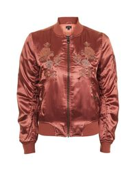 TOPSHOP | Embroidered Ma1 Bomber Jacket | Lyst