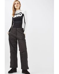 TOPSHOP | Black Boarder Trouser By Sno | Lyst