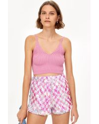 TOPSHOP - Pink Sequin Shorts - Lyst