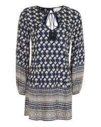 TOPSHOP   Blue Tie Flippy Dress By Band Of Gyspies   Lyst