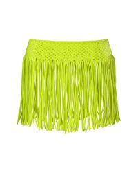 TOPSHOP - Green Macramé Fringed Skirt By Kendall + Kylie At - Lyst