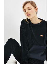Ellesse - Black Velour Sweatshirt By - Lyst