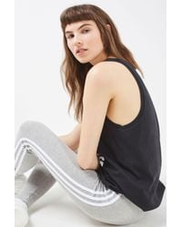 TOPSHOP Black Trefoil Tank Top By Adidas Originals