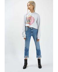 TOPSHOP - Gray Spliced 'burgnut' Sweatshirt By Tee & Cake - Lyst