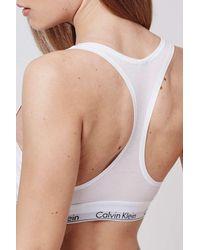 TOPSHOP - White Modern Cotton Bralet By Calvin Klein - Lyst