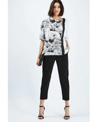 TOPSHOP - Green Oversized Mix Palm Print Tee - Lyst