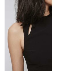 TOPSHOP Black Cut-out Crop Bralet