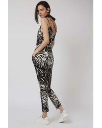 TOPSHOP - Black Tiger Print Jumpsuit - Lyst