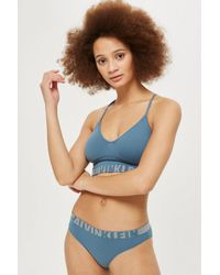 CALVIN KLEIN 205W39NYC - Blue Bikini Knickers By - Lyst