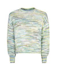 TOPSHOP | Blue Rainbow Space Dye Jumper | Lyst