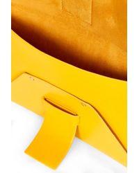 TOPSHOP - Yellow Carla Clean Clutch - Lyst