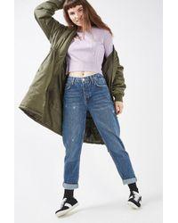 TOPSHOP Petite Mid Blue Hayden Boyfriend Jeans