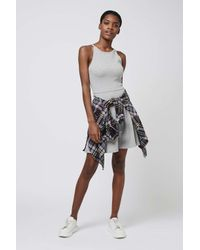 TOPSHOP White Petitie Strappy Back Dress