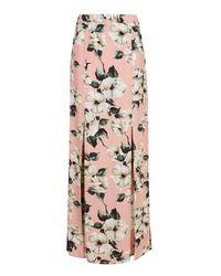 TOPSHOP | Pink Sugar Flower Maxi Skirt | Lyst