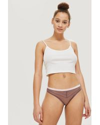 TOPSHOP - Purple Lace Mini Knickers - Lyst
