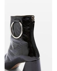 TOPSHOP Black Mia Ring Boots