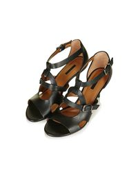 TOPSHOP - Black Needle Cut-out Buckle Sandals - Lyst