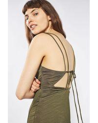 TOPSHOP Multicolor Slinky Wrap Midi Dress