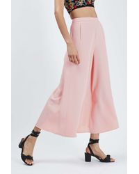 TOPSHOP - Pink Palazzo Trousers - Lyst