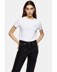 Tommy Hilfiger White Classic T-shirt By Tommy Jeans