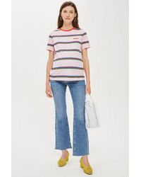309fa19b7b65d TOPSHOP maternity Over The Bump Dree Jeans in Blue - Lyst
