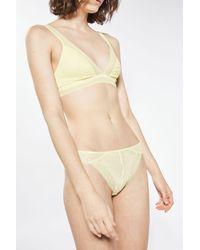 TOPSHOP - Yellow Pretty Lace Brazilian Knickers - Lyst