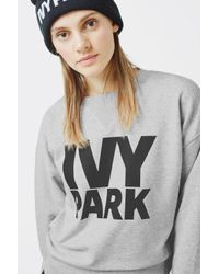 Ivy Park Gray Logo Peached Sweatshirt By