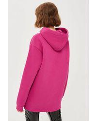 TOPSHOP - Pink Tall Longline Hoodie - Lyst