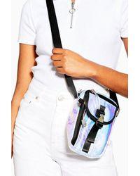 TOPSHOP Metallic Ibiza Crinkle Cross Body Bag