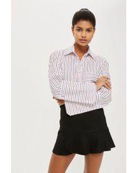 d15fd4984c TOPSHOP Panelled Flippy Skirt in Black - Lyst