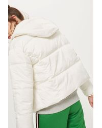 TOPSHOP - White Puffer Jacket - Lyst