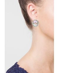 TOPSHOP - Multicolor Oval Crystal Stud Earrings - Lyst