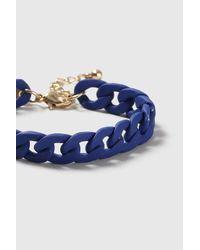 TOPSHOP - Blue Rubber Chain Bracelet - Lyst