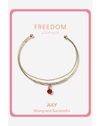 TOPSHOP | Red Ruby July Birthstone Bracelet | Lyst