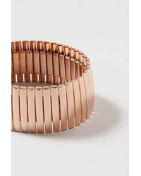 TOPSHOP - Multicolor Wide Clean Metal Stretch Bracelet - Lyst