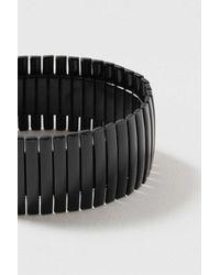 TOPSHOP - Black Wide Clean Metal Stretch Bracelet - Lyst