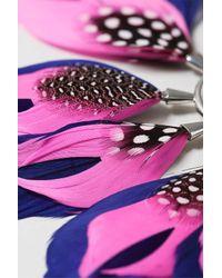 TOPSHOP | Pink Mega Fan Feather Earcuff | Lyst