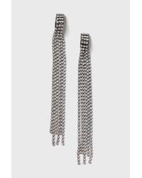 TOPSHOP - Multicolor Glitz Chain Drop Earrings - Lyst