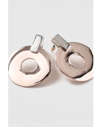 TOPSHOP - Multicolor Circle And Bar Drop Earrings - Lyst