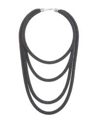 TOPSHOP | Metallic Mega Bead Mesh Multirow Necklace | Lyst