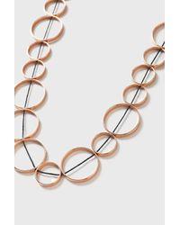 TOPSHOP - Metallic Circle Linked Necklace - Lyst
