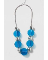 TOPSHOP | Blue Statement Resin Ball Necklace | Lyst
