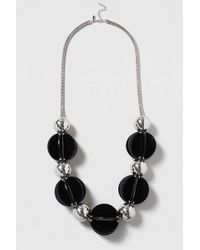 TOPSHOP - Black Statement Resin Ball Necklace - Lyst