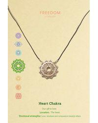 TOPSHOP - Metallic Heart Chakra Ditsy Necklace - Lyst
